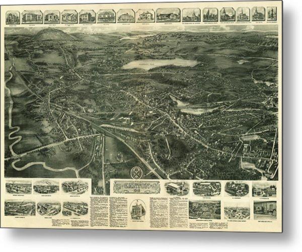 Aero View Of Canton, Mass Metal Print