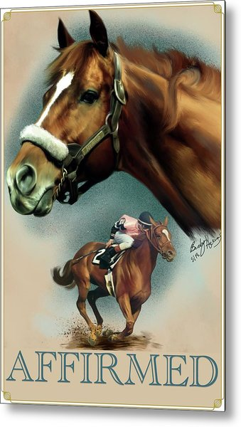 Affirmed With Name Decor Metal Print