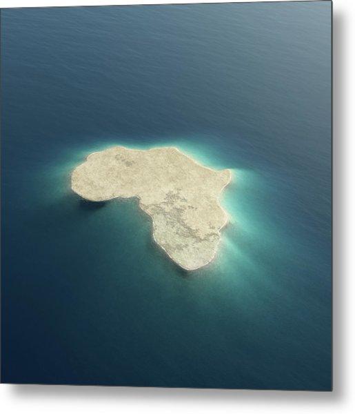 Africa Conceptual Island Design Metal Print