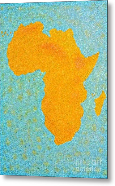 Africa No Borders Metal Print