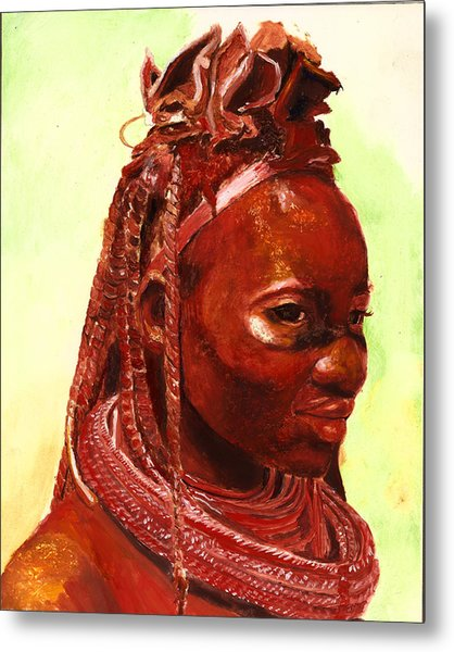 African Beauty Metal Print