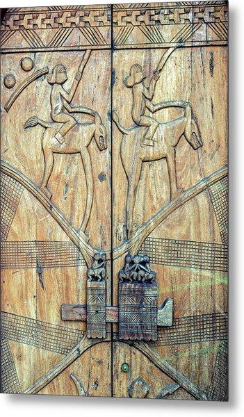 African Door Metal Print