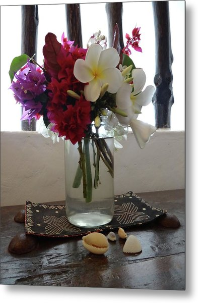African Flowers And Shells Metal Print