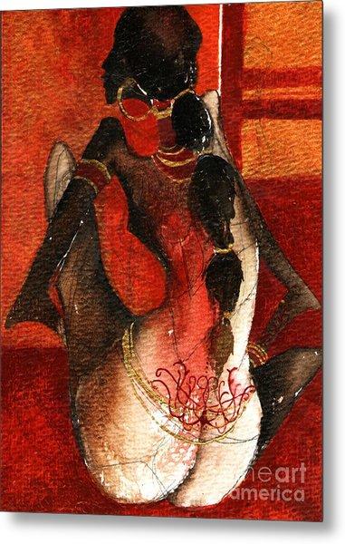 African Girl Metal Print by Maya Manolova
