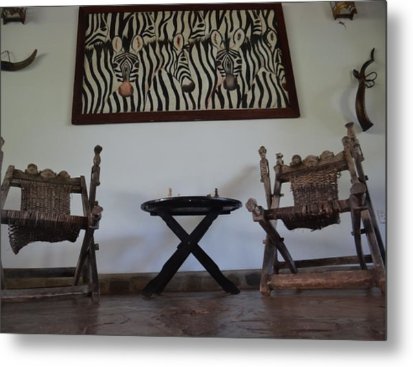 African Interior Design 1 Metal Print