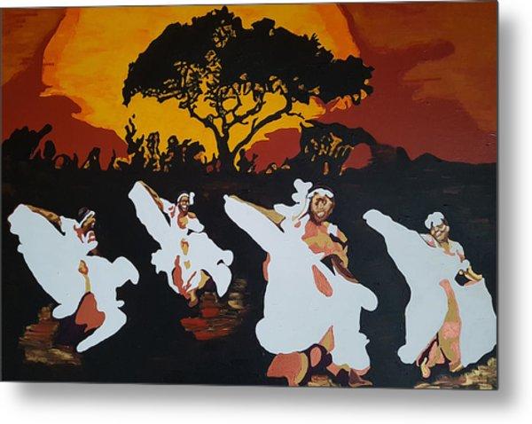 Afro Carib Dance Metal Print
