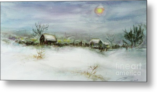 After A Heavy Fall Of Snow Metal Print