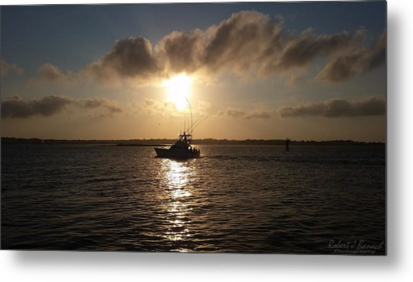 After A Long Day Of Fishing Metal Print