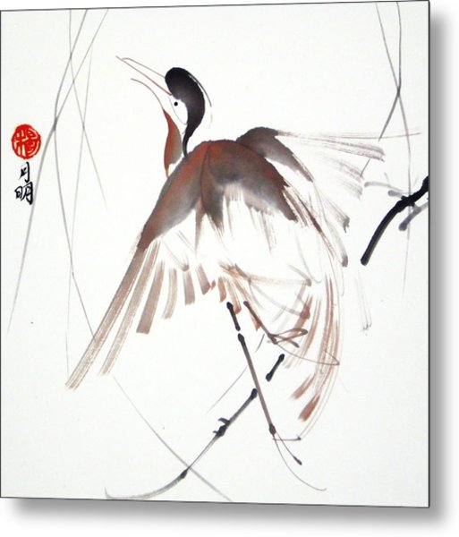 After A Long Flight Metal Print by Ming Yeung