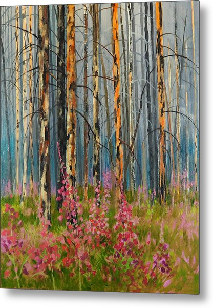 After Forest Fire Metal Print
