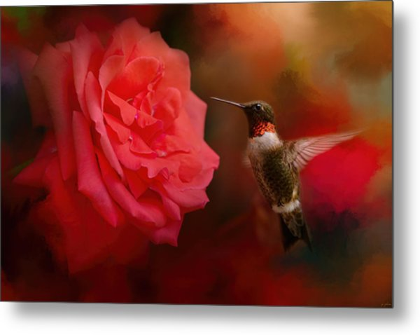 After The Big Rose Metal Print