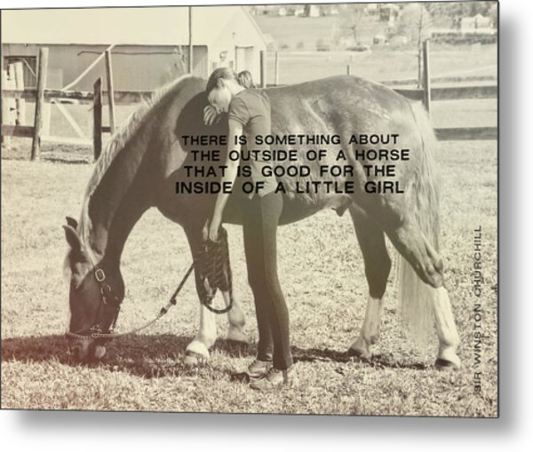 After The Competition Quote Metal Print