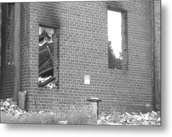 Metal Print featuring the photograph After The Fire 5 by Brian Gryphon