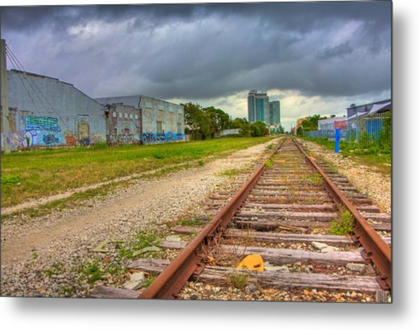 After The Last Train Out Metal Print by William Wetmore