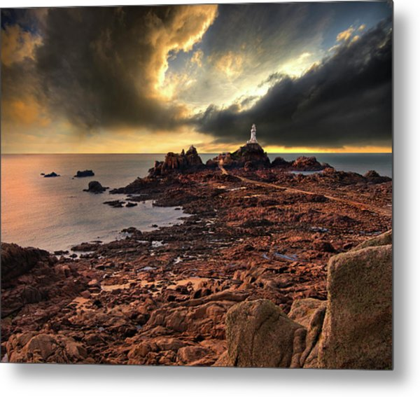 after the storm at La Corbiere Metal Print