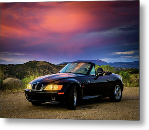 After The Storm - Bmw Z3 Metal Print
