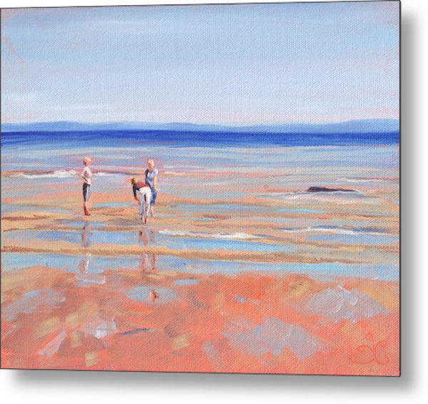 After The Walk - Whiting Bay Metal Print