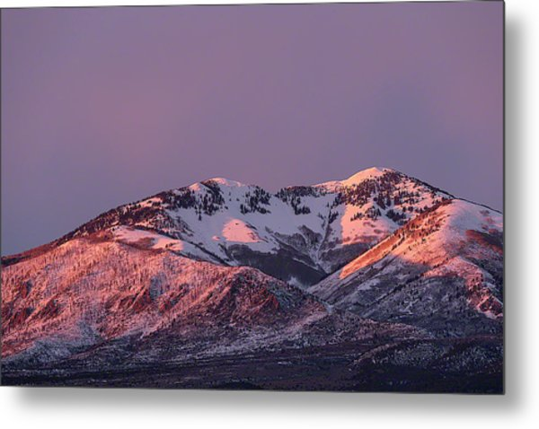 Metal Print featuring the photograph Afternoon Alpenglow On South Mountain by Deborah Hughes