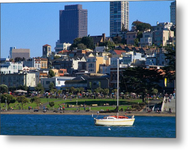 Afternoon At Maritime Park Metal Print