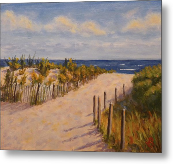 Afternoon At The Beach Metal Print