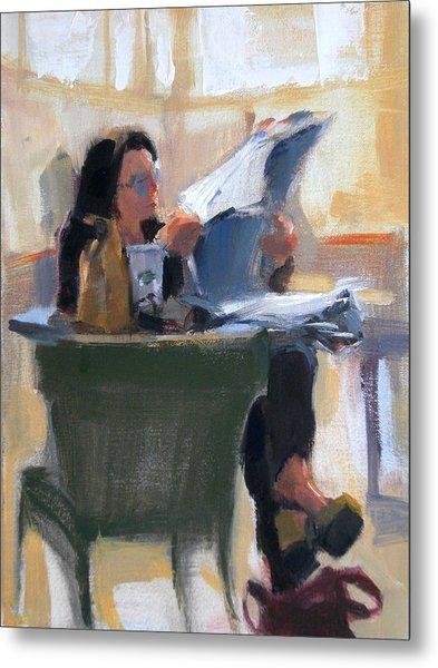 Afternoon Coffee Break Metal Print by Merle Keller