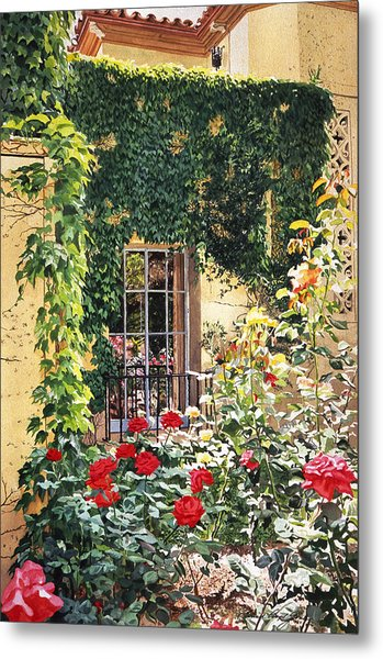 Afternoon In The Rose Garden Metal Print