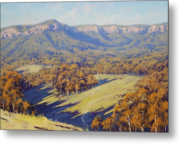 Afternoon Light Megalong Valle Metal Print