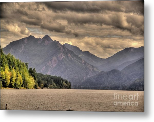 Afternoon Mountain View Metal Print