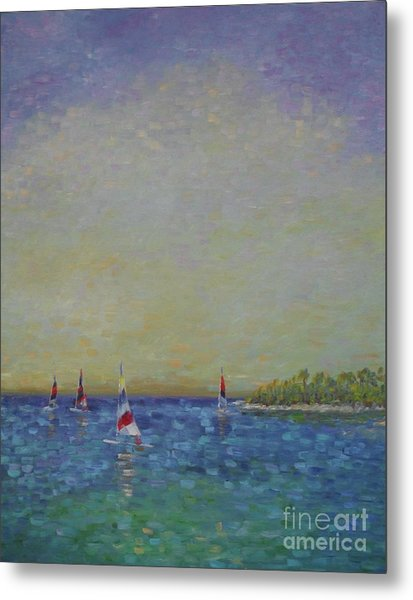 Afternoon Sailing Metal Print