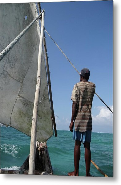 Afternoon Sailing In Africa Metal Print