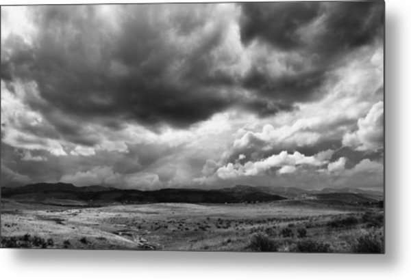Afternoon Storm Couds Metal Print