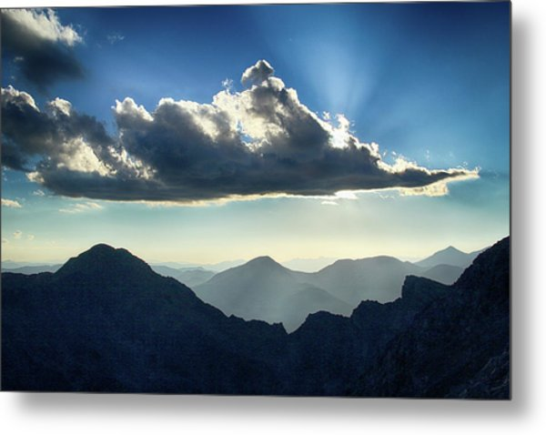 Afternoon Sunburst Metal Print