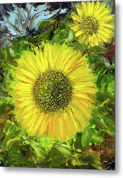 Afternoon Sunflowers Metal Print
