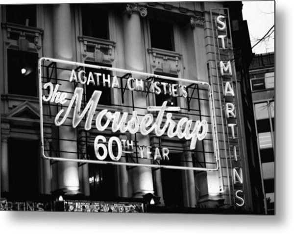 Metal Print featuring the photograph Agatha Christie's The Mouse Trap 60th Anniversary by Helga Novelli