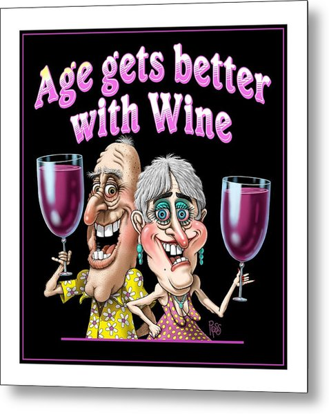 Age Gets Better Couple Metal Print