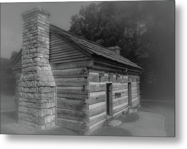 Metal Print featuring the photograph Aged Cabin At The Hermitage by James L Bartlett