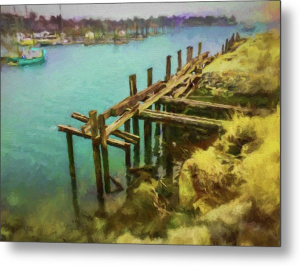 Aged Docks From Winthrop Metal Print