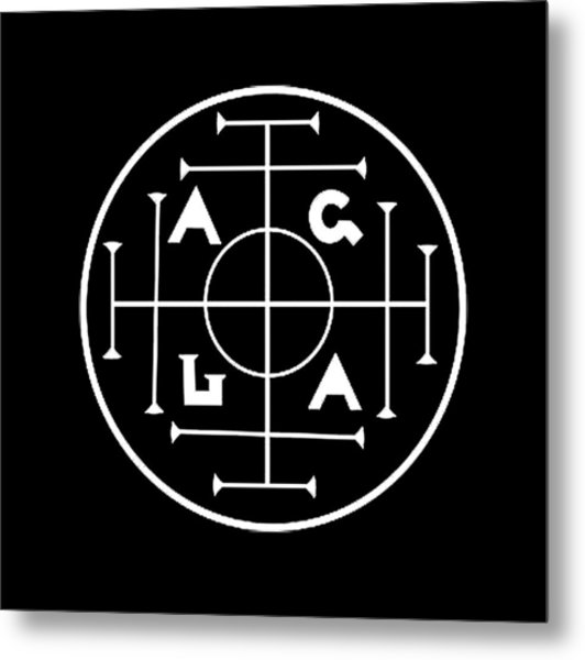 Agla Lucky Charm Metal Print