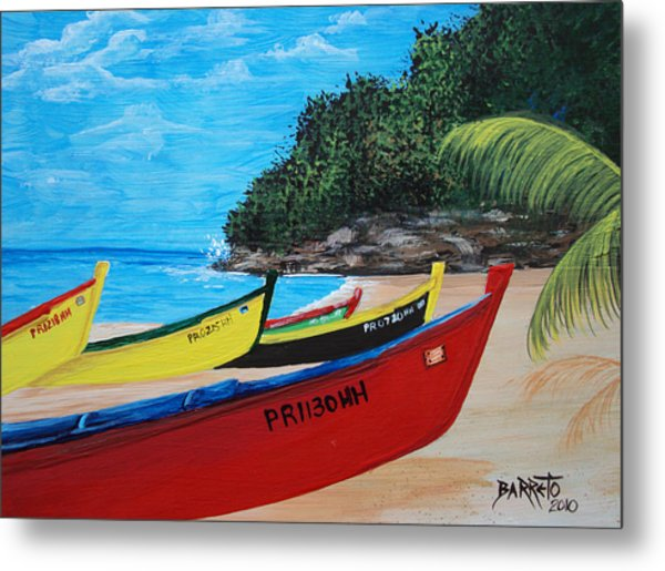 Aguadilla Crashboat Beach Metal Print