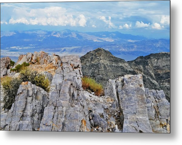 Aguereberry Point Rocks Metal Print