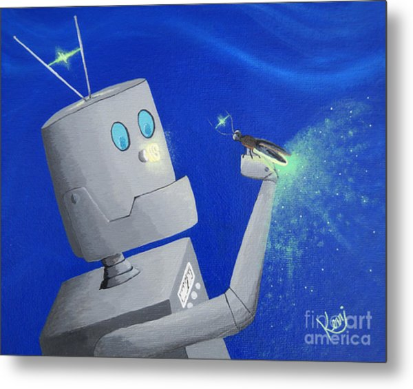 A.i. And The Firefly Metal Print