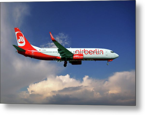 Air Berlin Boeing 737-800 Metal Print