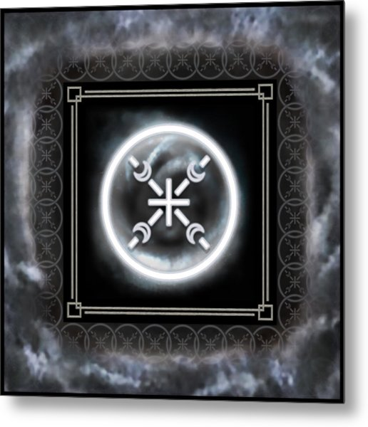 Metal Print featuring the digital art Air Emblem Sigil by Shawn Dall