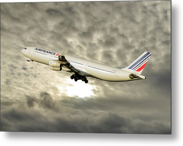 Air France Airbus A340-313 115 Metal Print
