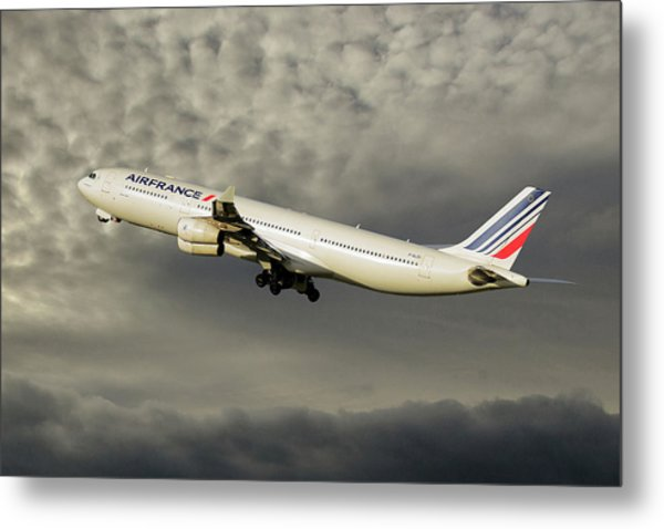 Air France Airbus A340-313 116 Metal Print