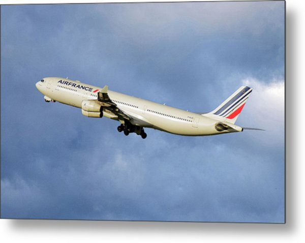 Air France Airbus A340-313 117 Metal Print