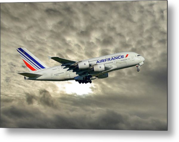 Air France Airbus A380-861 115 Metal Print
