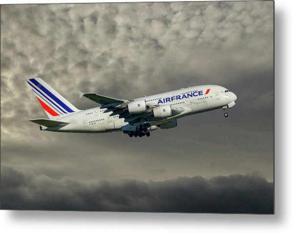 Air France Airbus A380-861 116 Metal Print