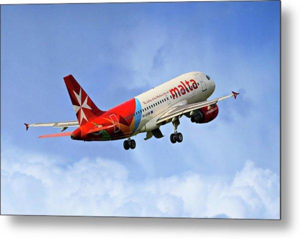Air Malta Airbus A319-112 Metal Print