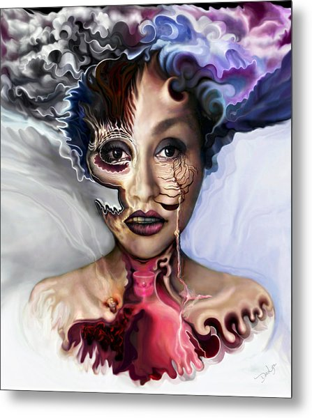 Metal Print featuring the digital art Air Oil Ash by Doe-Lyn